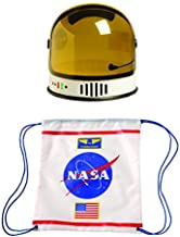 Aeromax Youth Astronaut Helmet and Astronaut Drawstring Backpack (2 Piece Bundle)