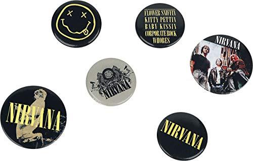GB eye Pack de chapas Nirvana Smiley, Metal, Multicolor, Talla única