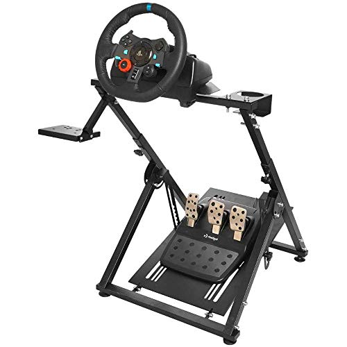 CINGO Racing Simulator Steering Wheel Stand Logitech for G25, G27, G29, G920, T300, T500 Thrustmaster T300RS. Wheel & Pedals Not Included