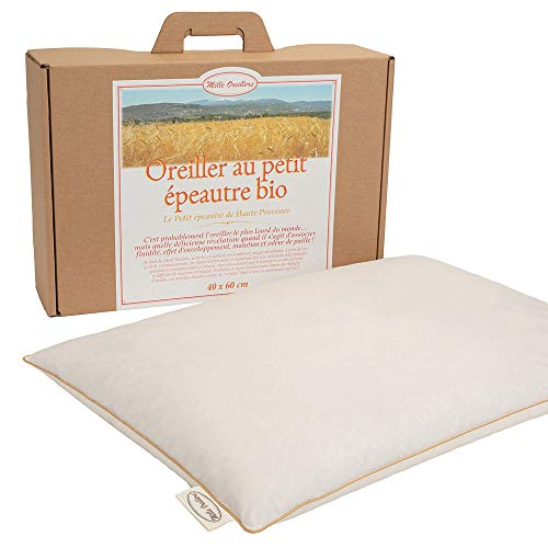 Mle almohadas con espelta biológica de alta provenencia, 40 x 60 cm