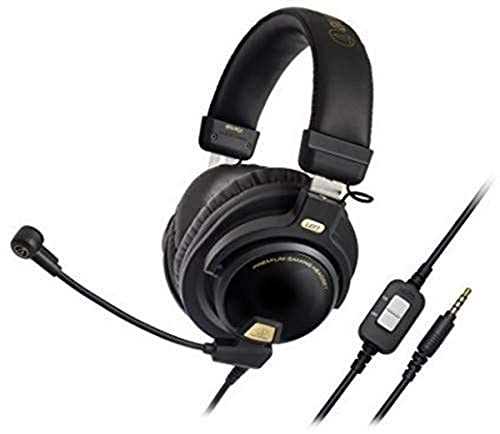 Audio-Technica ATH-PG1 Closed-Back Premium Gaming Headset with 6' Boom Microphone