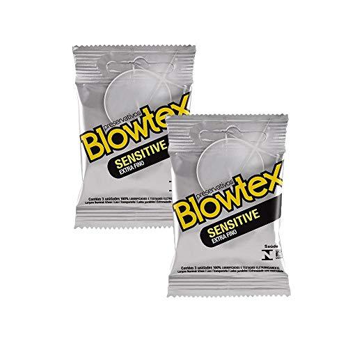 Kit c/ 2 Pacotes reservativo Blowtex Sensitive c/ 3 Un cada