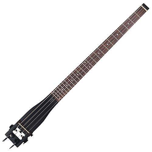 Anygig Portable Traveler Guitar Bass Gitarre schwarze Gitarren 24 Bünde 34 inch lang ausgewogene Design