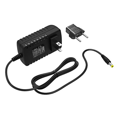 HQRP 6V AC Adapter Compatible with Ozeri CardioTech BP3T Upper Arm Blood Pressure Monitor UE08WCP-060100-SPA Power Supply Cord Adaptor [UL Listed] + Euro Plug Adapter