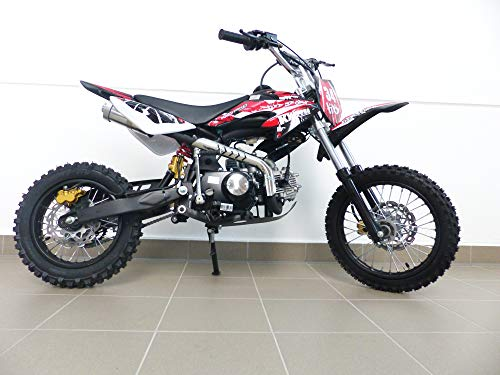 RV-Parts KXD Dirt Bike 125ccm 14/12 Zoll Cross Vollcross Pocketbike Pit Enduro 125cc 12PS