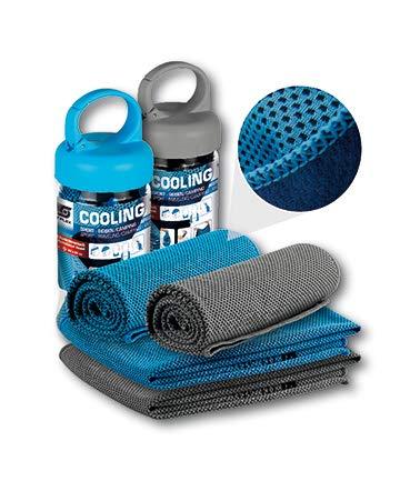 Sunflex kühlendes Sporthandtuch Cooling Towel Reisetuch Microfasertuch für Gym Fitness Yoga Golf Camping Joggen Outdoor Sport Sommer