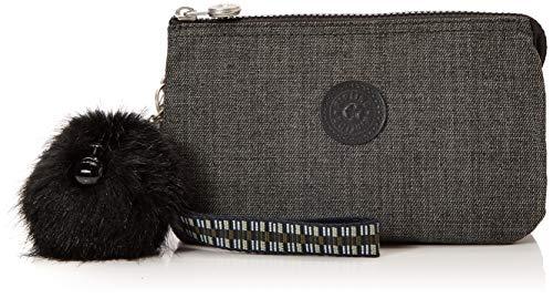 Kipling Women's Creativity XL Coin Purse, 21.5 x 13.5 x 4 cm Black Black (Jeans Grey G Strap)