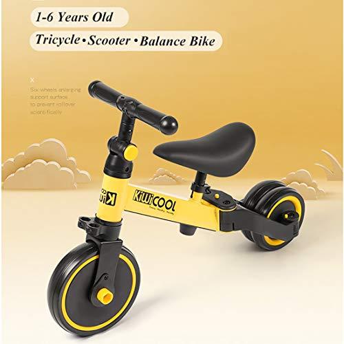MOKY Luminoso bebé niños de la Bici 3-en-1 bebé Vespa, Equilibrio Bicicletas...
