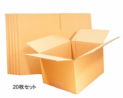 『【 日本製 】 ダンボール (段ボール) 20枚セット 60サイズ 引越し 梱包 収納 箱 (25×20×15cm) B1-20』の1枚目の画像