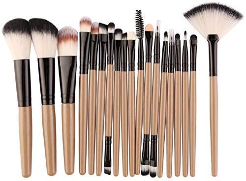 WEHQ 18Pieces pinceaux de Maquillage, pinceaux de Maquillage synthétique Fondation Blending Poudre Fard à Joues Correcteur Contour Fard à paupières