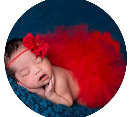 HO-TBO Ensemble de accessoires photo pour bébé, nouveau-né fille, tulle en coton avec bébé L Tenues de séance photo et bandeau Multicolore en option, Coton, c, S