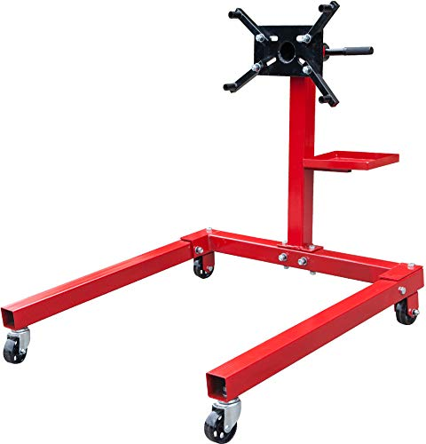 BIG RED T25671 Torin Steel Rotating Engine Stand with 360 Degree Rotating Head and Tool Storage...