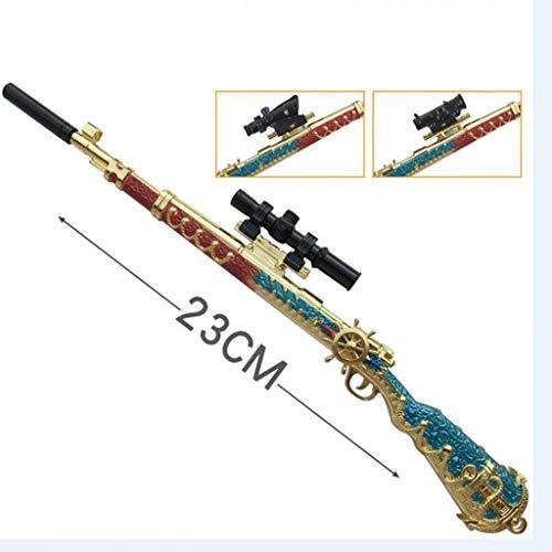 Anime 98K Mini Pistola Metal Modelo De Arma Juego De rol Llavero Extraíble Modelo Mochila Colgante Suministros Fiesta (C)