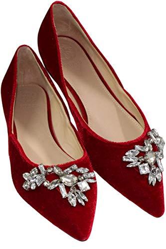 Guess Damen Shoein Samt Ballerinas Dunkelrot, 37
