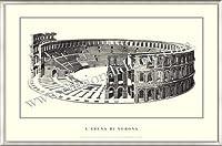 ポスター ヴェローナ larena di Verona 額装品 アルミ製ベーシックフレーム(ライトブロンズ)