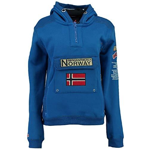 Geographical Norway - Felpa da uomo modello Gymclass A, colore blu elettrico, taglia L