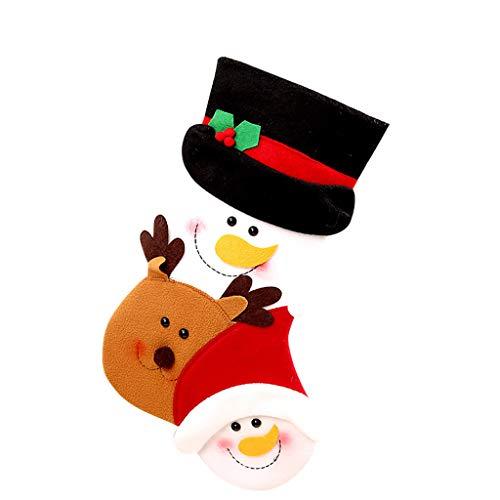 Fineday Christmas Stocking Sock Santa Claus Candy Gift Bag Xmas Tree Hanging Decor, Home Decor 家居装饰 for Christmas (B)