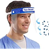 Muryobao Men Women Safety Face Shield Reusable Full Face Transparent Breathable Visor Windproof Dustproof Hat Shield Protect Eyes And Face With Protective Clear Film Elastic Band 2Pcs