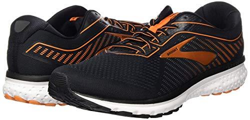 Brooks Men's Mid-Top Sneaker, Black Turbulence Orange, 7.5