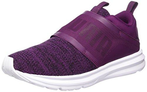 Puma PUMA Damen Enzo Strap Knit Outdoor Fitnessschuhe, Violett (Dark Purple-Black), 38 EU