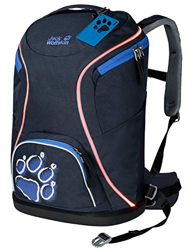 Jack Wolfskin Kinder BEAMY beleuchtete Schultasche, Night Blue, ONE SIZE