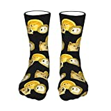 Dogecoin Doge Hodl To The Moon Women Men Sock Stockings Crew Socks Winter Compression Socks With Moisture Wicking 15.7 Inch