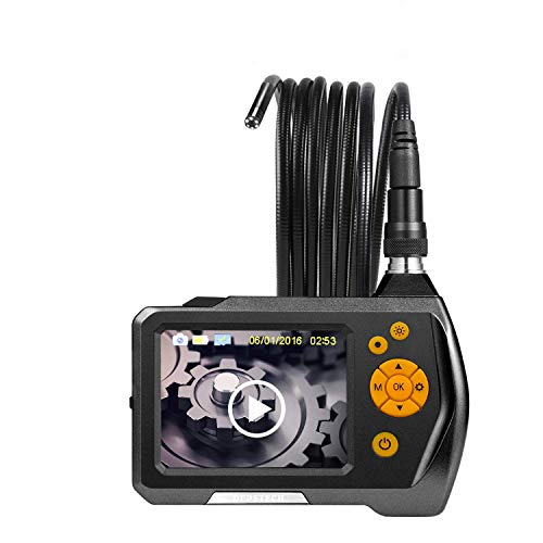 Inspection Camera, DEPSTECH Waterproof Digital Endoscope Borescope Snake Tube Camera with 2.4 inch Color LCD Monitor, 8MM Camera Diameter, Carrying Case - 15FT