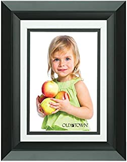 Old Town 5x7 Black Ledge Wood Frame, 4-Pack - New Zealand Pine and Malaysian Durian for a Gallery Ready Presentation (4, Black Ledge)