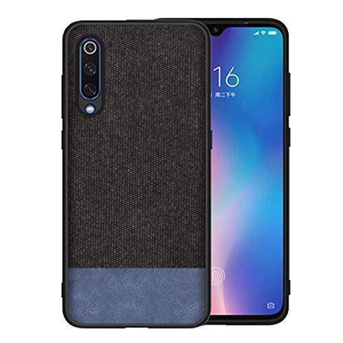 Kompatibel mit Xiaomi Mi 9 Hülle Xiaomi Mi9 SE Schutz Tasche Handyhülle Ultra Dünn Stoff aufrüsten Anti-Rutsch Anti-Fingerabdruck Hülle (Schwarz blau, Mi9 SE)