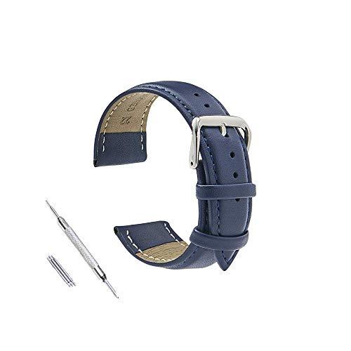 時計ベルト 時計バンド16mm 18mm 19mm 20mm21mm 22mm 24mm時計ストラップ交換用時計バンドレザークイックリリースストラップボーナス交換ツール