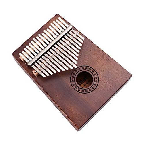 Healifty Kalimba Daumen Klavier 17 Tasten Mbira Finger Piano Tragbares Musikinstrument für Kinder Erwachsene Anfänger Kaffee