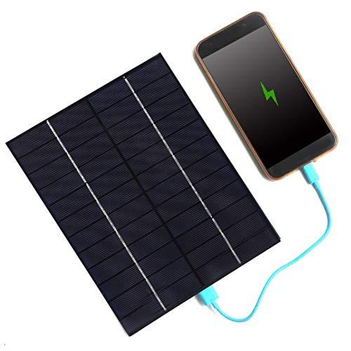 DAUERHAFT Módulo de Panel Solar de 6.5x8.3x0.4 Pulgadas Panel Solar portátil para teléfono Celular, para Cargador de Coche de energía de batería de energía Solar móvil