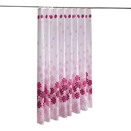 Waterdichte Polyester Bathroom Shower Curtain Resistant Washable Bath Gordijnen Met Haken badkamer accessoires (Size : 200cmx200cm)