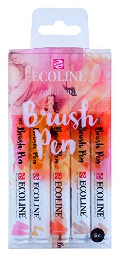 Talens Ecoline 5 brush pens 'Beige Pink'