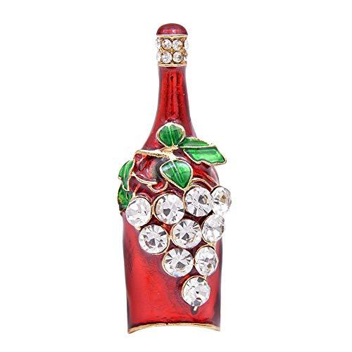 GLKHM Navidad Broche Broche De Botella De Vino Creativo Alfileres De Moda Accesorios De Esmalte