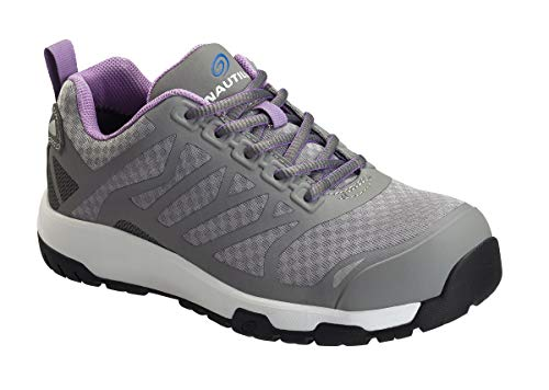 Nautilus Safety Footwear Womens EH Athletic Sneaker, Grey,8.5
