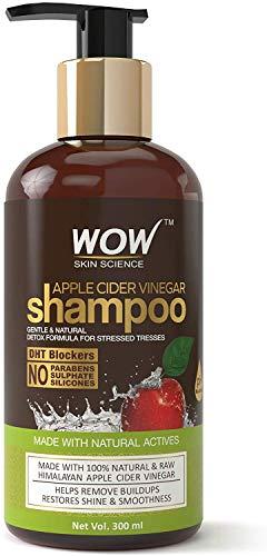 Glamorous Hub WOW Champú de vinagre de sidra de manzana sin parabenos y sulfato de 300 ml (el empaque puede variar)
