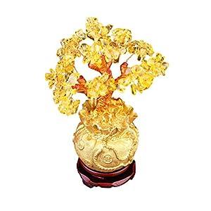 Garneck Árbol de Dinero Árbol de La Suerte Feng Shui Bonsai Adorno de Escritorio para Sala de Estar Decoración de Oficina Cristales Regalo