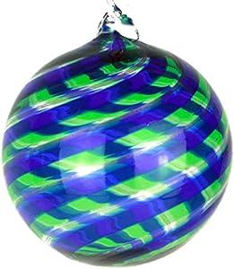 Bola de Navidad – Espiral Fantasy – Azul y Verde – Cristal de Murano Navidad