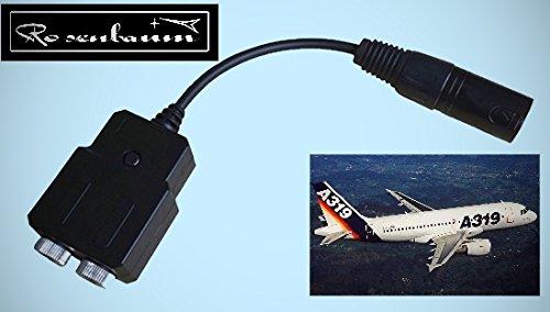 Adapter Aviation Headset GA Flugzeug auf XLR5 Airbus A319/320 Linienflugzeuge