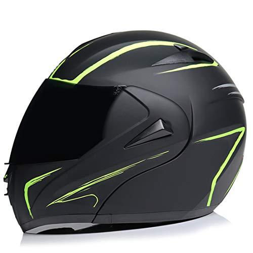 Casco integrale da moto integrale per uomo e donna, certificato ECE DOT, BMX MX Downhill Offroad (specchio da tè, S (55-56 cm)