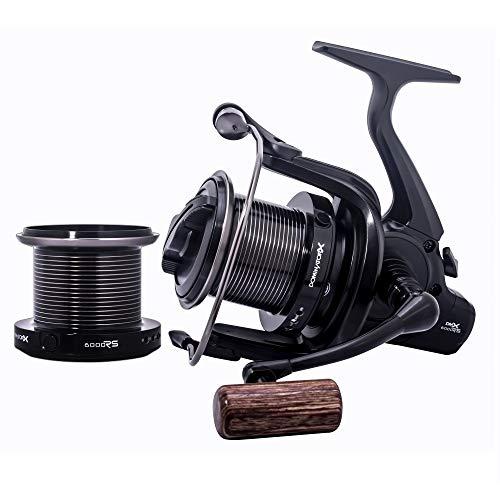 Sonik DOMINATORX 8000 RS karperrol zwart Big Pit - uitwerprol voor karpervissers - vismolen voor karpers met Quick Drag voorrem