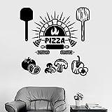 HFDHFH Ingredientes alimentarios Pegatinas de Pared Pizza Restaurante Italiano Cocina Cocina Refrigerador Pegatinas 110X112CM