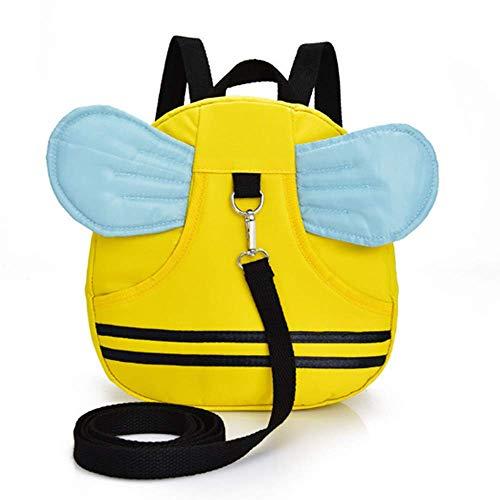 kabinga YM 78 Linda Bee Baby, Mochila pequeña para niños de 1-2-3 años, Impermeable, con Correa antipérdida, 9.4 3.2 10.2 Pulgadas, (Amarillo), Unisex, M