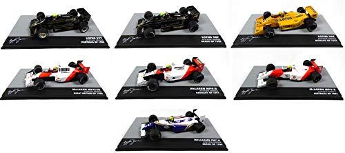 OPO 10 - Lotto di 7 Auto 1/43 Formula 1: McLaren + Lotus Ayrton Senna F1 (708 + 709 + 711 + 712 + 713 + 714 + 715)