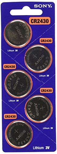 Sony CR2430 Lithium Coin Battery CR2430 (5 Pack)