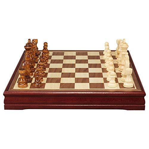 Cutfouwe Ajedrez Profesional, Piezas ajedrez Profesional, ajedrez Madera Clasico,Regalo Madre,Geschenk eltern,45x45x6cm