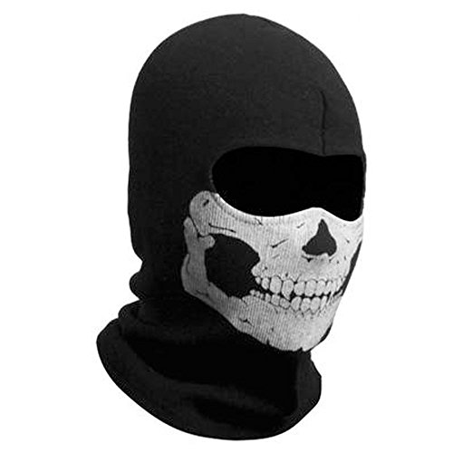 ZZoo Cotton Ghost Mask Skull Heads Warm Scarf Outdoor Cycling Dust Mask Halloween Cosplay Costume (Black)