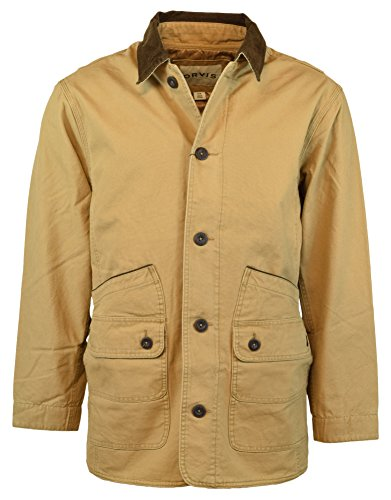 Orvis Men's Corduroy Collar Cotton Barn Jacket (X-Large, Saddle)