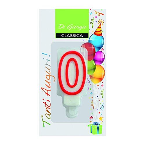 CERERIA DI GIORGIO 56120 _ 60 świeczka typu tealight urodzinowa liczba 0